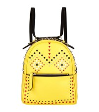 Les Petits Joueurs Micro Mick Studded Backpack Female Yellow