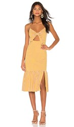 Saylor Doris Dress In Yellow. Mustard