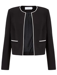 John Lewis Blair Contrast Trim Jacket Black Cream