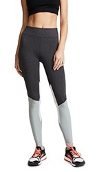 Heroine Sport Tracking Leggings Light Grey And Charcoal And White