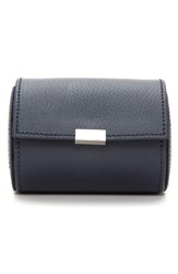 Wolf Howard Leather Watch Roll Case Blue Navy