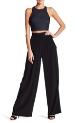 Elizabeth And James Zoe High Waisted Flare Leg Silk Pant Black
