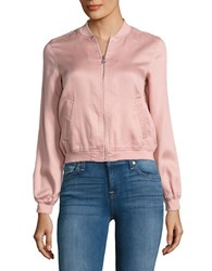 Jessica Simpson Embroidered Bomber Jacket Mellow Rose