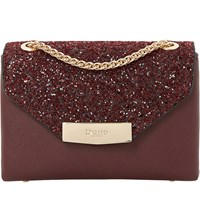 Dune Serenity Sequinned Micro Bag Berry Plain Synthetic