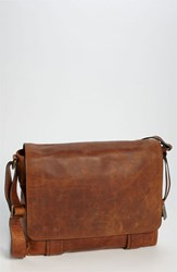 Men's Frye 'Logan' Messenger Bag Brown Online Only Antique Cognac