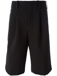 Neil Barrett Loose Fit Piped Shorts Black