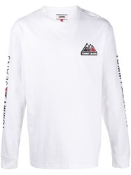 Tommy Jeans Mountain Logo Long Sleeved T Shirt 60