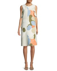 Lafayette 148 New York Kaydence Landscape Expression Shift Dress Cloud Multi