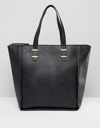 Pieces Winged Tote Bag Black