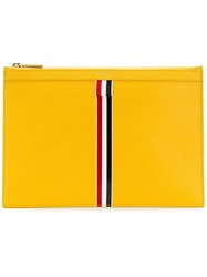 Thom Browne Intarsia Stripe Small Tablet Holder Yellow