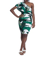Tracy Reese Tropical Printed Dress Green