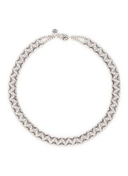 Philippe Audibert 'Viwy' Crystal Bead Cutout Necklace Metallic