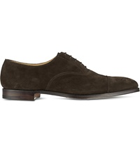 Crockett Jones Hallam Oxford Shoes Dark Brown