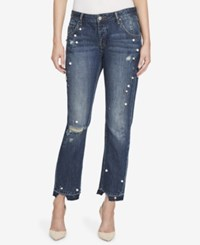 William Rast Embellished Cotton Boyfriend Jeans Mystic Path