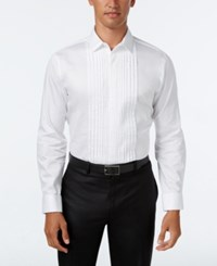 Inc International Concepts Men's Pleated Tuxedo Shirt Only At Macy's White