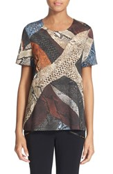 Women's Just Cavalli 'Cross Naif' Python Print Jersey Tee