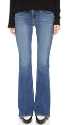 L'agence Elysee Low Rise Flare Jeans Authentique