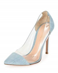 Gianvito Rossi Denim Illusion Cap Toe Pump Gray