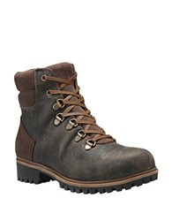 Timberland Wheelwright Waterproof Full Grain Leather Lace Up Boots Canteen