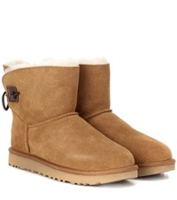 Ugg Adoria Tehuano Fur Lined Suede Boots Brown
