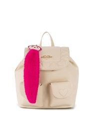Love Moschino Quilted Heart Backpack White