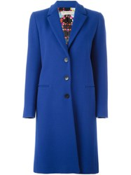 Emilio Pucci Classic Single Breasted Coat Blue
