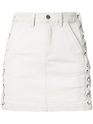 A.L.C. Lace Up Fitted Skirt Women Cotton Polyurethane 2 White