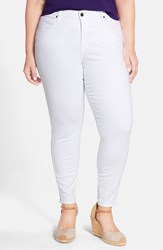 Plus Size Women's Cj By Cookie Johnson 'Wisdom' Stretch Ankle Skinny Jeans Optic White