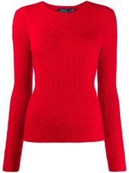 Polo Ralph Lauren Cashmere Cable Knit Jumper Red