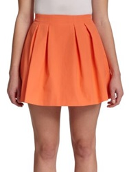 Alice Olivia Parson Pleated Mini Skirt Coral