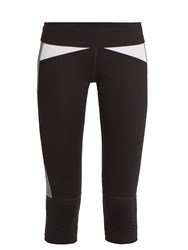 Track And Bliss Power Cropped Performance Leggings Black Multi