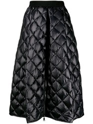 Moncler A Line Quilted Skirt Black