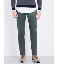 Slowear Slim Fit Linen And Cotton Blend Chinos Forrest