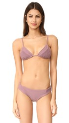 Tori Praver Swimwear Solids Lahaina Triangle Top Mauve