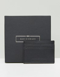 Asos Made In England Leather Card Holder In Black Black