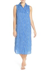 Lauren Ralph Lauren Women's Cotton Blend Ballet Sleep Shirt Stripe