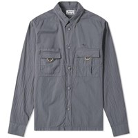 Acne Studios Sandy Garment Dyed Nylon Overshirt Grey