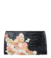 Nancy Gonzalez Cherry Blossom Crocodile Slicer Clutch Bag Female Multi