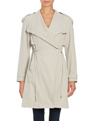 French Connection Drawstring Trenchcoat Beige