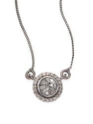 Shana Gulati Alex Raw Sliced Diamond Pendant Necklace Silver