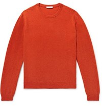 Boglioli Brushed Wool And Cashmere Blend Sweater Tomato Red