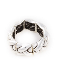 Philippe Audibert Chunky Braided Bracelet Metallic