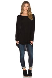 Michael Lauren Elwood Long Sleeve Oversized Cape Top Black