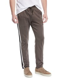 Vince Colorblock Track Pants Dried Herb