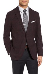 Pal Zileri Men's Classic Fit Plaid Wool And Linen Sport Coat