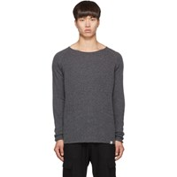 Junya Watanabe Grey Merz B. Schwanen Edition Wool And Silk Knit Sweater