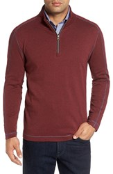 Robert Graham Men's 'Elia' Regular Fit Quarter Zip Pullover Heather Wine