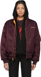 Vetements Reversible Red Alpha Industries Edition Logo Bomber Jacket