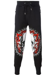 Philipp Plein 'Danger' Track Pants Black