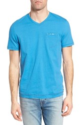 Jeremiah Men's Gus Pad Pocket V Neck T Shirt Mykonos Blue